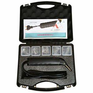 Tuneway Kit de Réparation de Pare-Chocs de Voiture en Plastique Agrafeuse Chaude Carrosserie Aile Carénage Outil de Soudage Réparation Machine,200 Pièces Agrafeuse Staples Prise Européenne