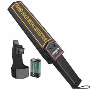 UNIROI Détecteur de Métaux Léger – Metal Detector Sensible pour Détecter Métaux, produits électroniques, marchandises interdites UD001