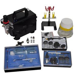 VidaXL 140286 Kit compresseur Airbrush professionnel 3 aérographes