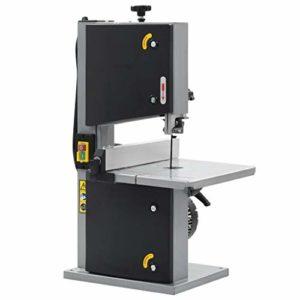 vidaXL Scie à Ruban Sciage Electrique Machine Atelier Garage Plateau Inclinable de 0 ° à 45 ° 2 Vitesses Bois Dur Tendre 200 mm