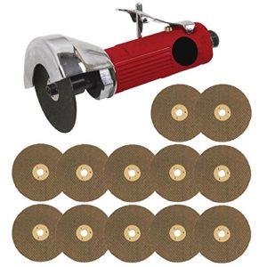Voche Outil de coupe à air 3 cm + 12 disques de coupe Rouge