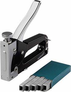 Wolfcraft – 7088000 – 1 Tacocraft 5 – Kit Agrafeuse pour Agrafes Type 053 de 4 – 8 Mm, Ôte-Agrafes Intégré + 1000 Agrafes Larges, Type 053 – 8 Mm