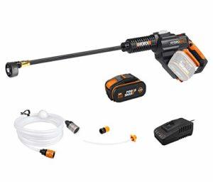WORX 20V Nettoyeur Haute Pression Batterie WG630E, 4.0Ah, 210L/h Pistolet de Nettoyage avec 6m tuyaux