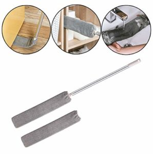 wyxhkj Brosse de nettoyage en microfibre à épousseter avec 1 tête de remplacement – Collecteur de poussière de comptoir amovible pour canapé-lit de ménage (Gris)