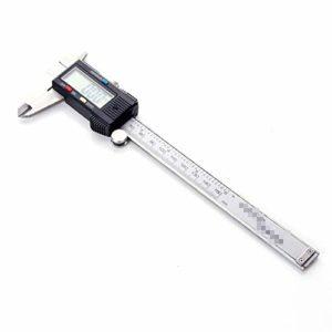 YCX Pied à Coulisse Digital en Acier Inoxydable 0-300 mm Mesure Noninus diamètre électronique numérique LCD étape Profonde,Noir