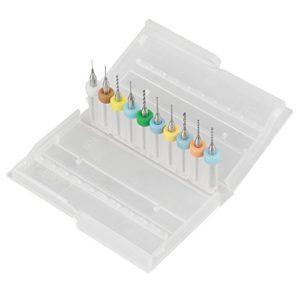 10 Pcs 0.3-1.2mm PCB Circuit Imprimé Carbure de Tungstène Micro Forets Mini Twist Drill Bits Set Gravure Métallurgie pour Bijoux CNC Gravure