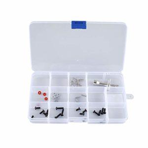 15 Slots Cells Portable Boîte à Outils Pièces Électroniques Vis Perles Anneau Bijoux Composant Boîte En Plastique Boîte De Rangement Conteneur Holde – Transparent