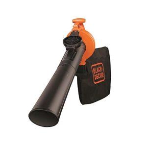 BLACK+DECKER GW2500-QS Aspirateur, Souffleur, Broyeur de feuilles filaire – Volume d'aspiration : 10,4 m3/min – Capacité : 40 L 2500W, Orange,