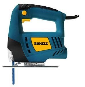 bohell SC400–Scie à chantourner pour bricolage pour bois, acier et aluminium, 350W, vitesse de 3000rpm et bouton de fonctionnement continu, angle de coupe de 0à 45°
