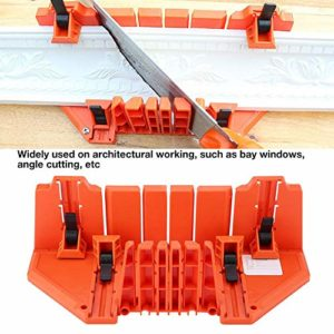 Boîte à onglets de coupe antidérapante Boîte à onglets de fixation de 0°, 22,5°, 45°, 90°, 35,5 x 11 x 15 cm