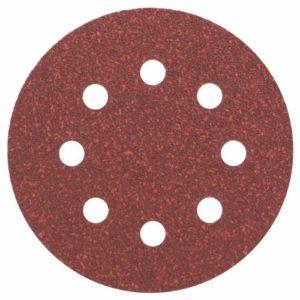 Bosch 2608605104 Disque abrasif pour ponceuse excentrique Ø 115 mm 8 Trous Grain 60 5 pièces