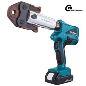 Cgoldenwall Bz-1528Mini à sertir Outil de serrage hydraulique de batterie électrique rechargeable PEX outils de plomberie Tuyau Outil de presse avec M12, M15, M18, M22, M28mm pour système de plomberie