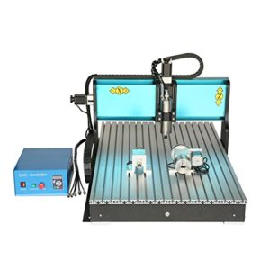 CNC6090 Wotefusi Mini Machine de Gravure Coupe Numerique 220V 1500W a 4 Axes Interface USB
