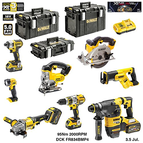 DEWALT Kit DCK-FR834BMP4 54V/18V (DCD996 + DCG414 + DCH333 + DCS387 + DCS391 + DCS331 + DCL040 + DCF887 + 2 x 5,0 Ah 18V + 2 x 6,0 Ah 54V/18V + DCB118 + DS150 + DS300 + DS400)