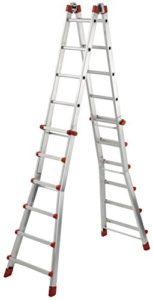 Hailo 7524-151Échelle télescopique multifonction MTL, 4x 6échelons aluminium–Utilisable comme échelle simple, coulissante, échelles et échelles d'Escalier