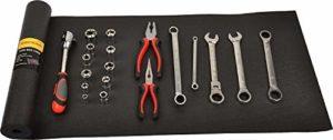 H.C Tapis de boîte à outils et doublure de tiroir noir antidérapant pour protéger vos outils. Ces épaisses doublures de placard sont facilement réglables pour s'adapter, noir, 16 inch x 6 feet