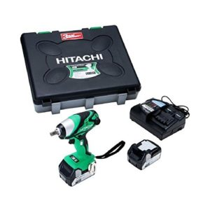 Hitachi WR18DSDL Boulonneuse à chocs 255 nm avec 9 douilles/2 batteries 18 V