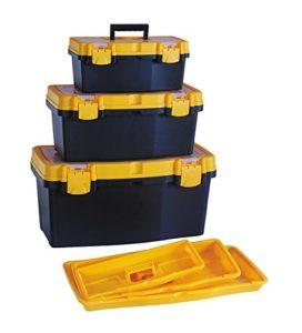 Hl3078fgh Gforge Hl3078-fhg trois boîtes à outil robuste (s, M, L) en une seule avec transparente Interne de l'article de couvercle