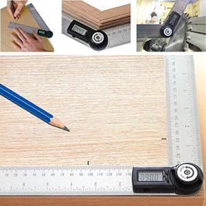 Hrph Electronic Protractor Goniomètre numérique Angle Finder Mitre Gauge Ruler