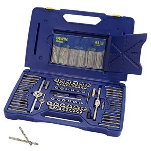 IRWIN Tools 117 Piece Machine Screw/Fractional/Metric Tap and Hex Die Set with Drill Bit Set (26377) by Irwin Tools