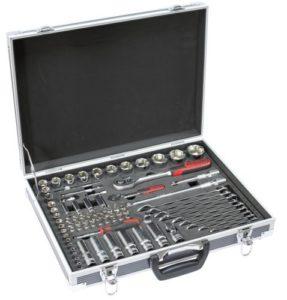 KS Tools 922.0683 – Coffret de douilles et accessoires 1/4» + 1/2» – Gamme ULTIMATE® – Coffret aluminium – Finition chromée satinée – 83 pièces