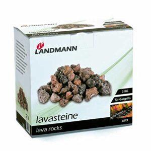 Landmann 273 Carton de 3 kg de Roches Volcaniques
