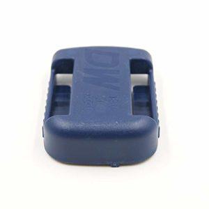 Matengf Support pour batterie au lithium Dewalt 18 V 20 V 60 V avec trous de vis Noir, bleu