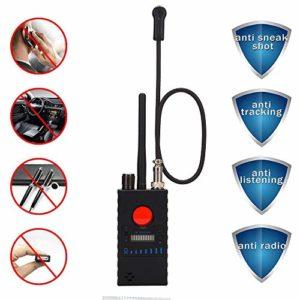 RSVT Anti Spy Détecteur, Détecteur sans Fil RF, Ultra Sensible Sweeper pour Caméra Cachée, GSM Écoute Détecteur De Périphérique, Noir