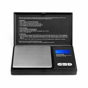 Tech Traders® balance de poche, portable, balance numérique avec écran LCD rétroéclairé, Elite Balance numérique de poche 200x 0,01g balance, Mini 200g, Mini Digital Balance