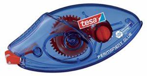 tesa Roller Colle Permanente EcoLogo Jetable – Ruban Adhésif Double Face (PET) Résistant à la Déchirure – 8,5 m x 8,4 mm