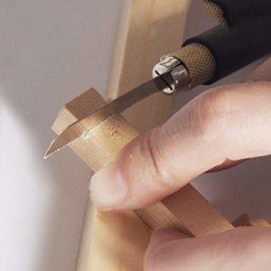 Wood, Tools & Deco Petite scie à Main en Forme de Stylo avec 2 Lames de scie