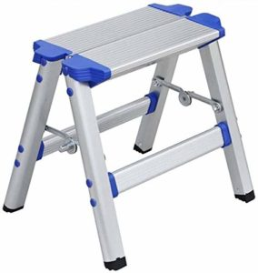 ZWBD Simple Furniture/Aluminium Escabeau Pliant Ladder ménages Pied Tabouret intérieur et extérieur Mobile
