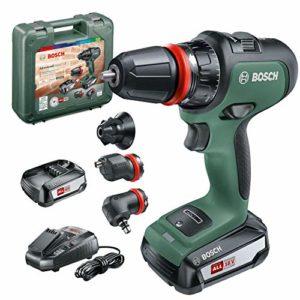Bosch 06039B5103 perceuse-visseuse à percussion AdvancedImpact 18 (2 batteries, système 18V, avec accessoires, dans une boîte en carton)