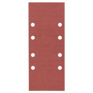 Bosch 2608605300 Feuille abrasive pour ponceuse vibrante 93 x 230 mm 8 Trous Grain 180 10 pièces Modèle A