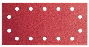 Bosch 2609256B29 Feuilles abrasives pour Ponceuses vibrantes 115 x 280 Nombre de trous 14 Grain 120 Lot de 10 feuilles