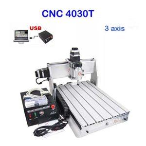 CNC Fraiseuse 3040T Machine à gravure à 3 axes USB CNC routeur 300mm x 400mm graveuse Milling Fraiseuse cncusb Logiciel
