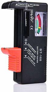 Comecase Testeur de batterie – Testeur de batterie pour piles AAA, AA, C, D, 1,5 V, 9 V et petites, testeurs de niveau de vie de la batterie avec compteur de tension