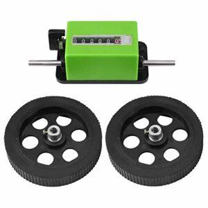 Compteur de mètre de Samfox, roue de roulement mécanique de compteur de compteur de longueur de 1pc