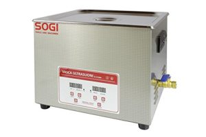 Cuve à ultrasons inoxydable nettoyeur Machine à laver Chauffage 15l 360W Sogi vl-u1500r