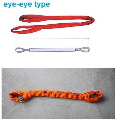 Gowe 80tx5m — 40m 6: 1haute résistance Eye-eye Soft Round Sling industrielle levage Sling Sangle de fibre de polyester Arbre en verre Auto Longueur: 5m
