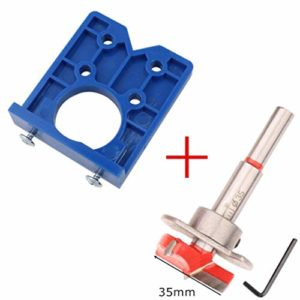 Guide de perçage de trou de charnière Localisateur de trou de perçage de trou de charnière de 35 mm Armoires de porte de charnière Outils d'aide à l'installation de poinçonnage de charnière (style 3)