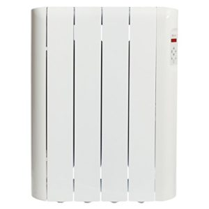 Haverland RCE4S – Radiateur électrique à inertie fluide caloporteur, design compact, thermostat digital, usage idéal 1-6h/jour, pièces jusqu'à +/- 8 m², 600 W, Blanc