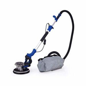 HIZLJJ 1250W cloison sèche Sander avec le système automatique de vide, électrique cloison sèche Sander avec LED et sac Collection, à vitesse variable 1000-1800 RPM, Toit poli, ciment blanc mur, peintu