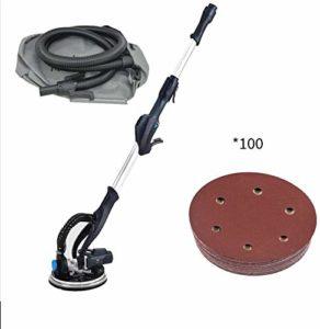 HIZLJJ 820W électrique Variable réglable Vitesse de cloison sèche Sander Machine avec LED Outil Case 6 Réglage de la Vitesse, Angle de Base Amovible Ponçage (Size : Standard+100 Sheets of Sandpaper)