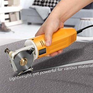 InLoveArts Coupeur de Tissu électrique, 70MM 220V Ciseaux Électriques Découpeuse de Tissu Cisaille Electrique pour Tissu Multicouche (Machine Tissu De Coupe)