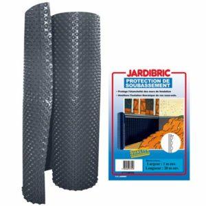 Jardibric – Membrane de protection de soubassement et fondation bi-couche en PE-HD à alvéoles – Bicolore extrudé noir et brun – Poids 400 gr/m², épaisseur 520 microns – 1 x 10 m