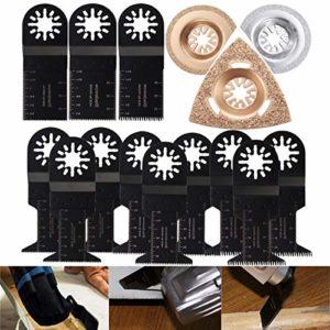 Jeu de lames 15 lames for lames de scie multifiliers oscillants Fein Multimaster Bosch Accessoires de lame de scie