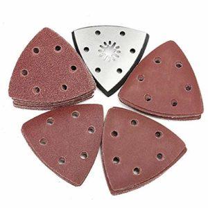 Jeu de lames 51pcs avec disque abrasif for papier abrasif grain Bosch Fein 60-240 Accessoires de lame de scie