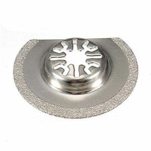 Jeu de lames Lame de scie oscillante Multitool 63mm, segment de diamant, demi-cercle Accessoires de lame de scie