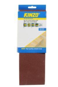 Kinzo 71756 Bande abrasive en bois 3 pièces grain 120